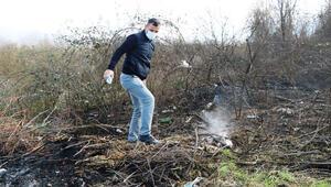 Adil Öksüzün çanta gömdüğü iddia edilen arazideki yangın için soruşturma başlatıldı