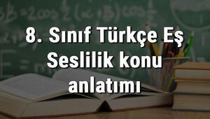 8. Sınıf Türkçe Eş Seslilik konu anlatımı