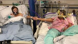 Koronavirüse yakalanan annesinin ölümünü yan yataktan izledi