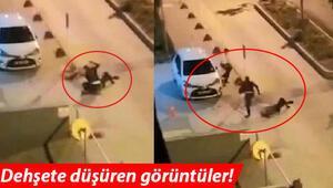 Polisin başına telsizle defalarca böyle vurdu