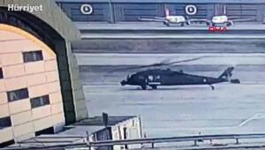Sabiha Gökçendeki helikopter kazasının güvenlik kamerası görüntüleri