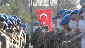 Jandarma komandolar Diyarbakırdan Suriyeye uğurlandı