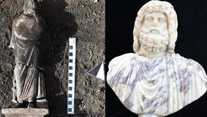 Kibyra Antik Kentinde sağlık tanrısı Asklepios heykelciği ve Serapis büstü bulundu
