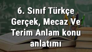 6. Sınıf Türkçe Gerçek, Mecaz Ve Terim Anlam konu anlatımı