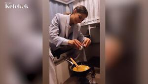 Demet Özdemir karavanda omlet yaptı