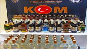 Sakaryada 205 şişe gümrük kaçağı içki ele geçirildi