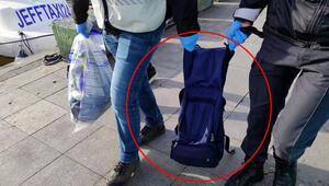 Beşiktaşta inanılmaz olay çantasına taş doldurup denize atladı
