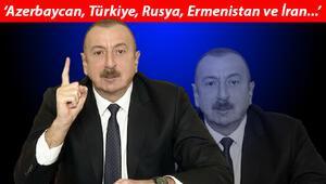 Azerbaycan Cumhurbaşkanı Aliyev Ermenistanı uyardı ve Türkiye ile kara bağlantısını sağlayacak yol hakkında konuştu