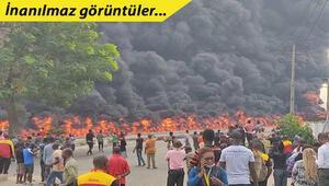 Nijeryada meydana gelen korkunç patlama anı kameralara böyle yansıdı