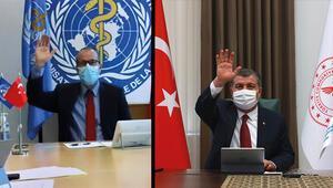 Bakan Kocadan önemli görüşme DSÖden Türkiyeye teşekkür