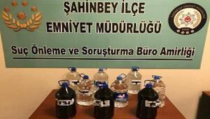 Gaziantepte 45 litre kaçak alkol ele geçirildi
