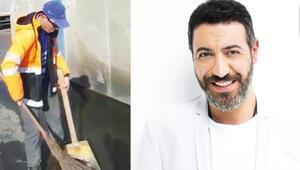 Hakan Altun, temizlik işçisi Şahin Özlem'in yeteneğini keşfetti