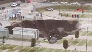 İtalyada pandemi hastanesinin otoparkında patlama Dev çukur oluştu
