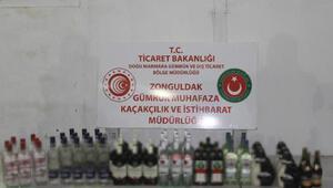 Gemide 64 şişe bandrolsüz içki ele geçirildi