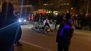 Yolun karşısına geçerken otomobilin çarptığı yaya, yaralandı
