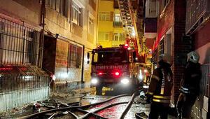 Fatihte bir apartman dairesinde çıkan yangın söndürüldü