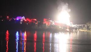 Denizlide içinde 5 kişi bulunan araç göle uçtu