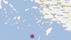 Son dakika: Ege Denizinin Muğla açıklarında 4 büyüklüğünde deprem