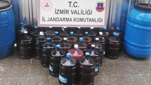 İzmir'de kaçak içki operasyonu: 880 litre ele geçirildi