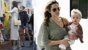 Angelina Jolie, kızları Zahara ve Shiloh ile alışverişte: Daha dün annesinin kucağındaydı, 14 yaşında 1.65 boyunda