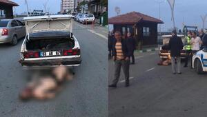 Rizede dehşet görüntü Dövdüler, aracın bagajından çıkarttılar, bırakırken yakalandılar