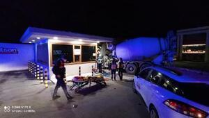 Kırklarelinde beton mikseri güvenlik kulübesine çarptı: 1 yaralı