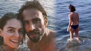 Özge Özpirinçci ocak ayında denize girdi