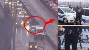 Polisten kaçan şüpheliler Haliç Köprüsünde böyle yakalandı