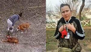 Antalyada köpeğe şiddet uygulayan kadın: Köpek döven ben, kediyi kurtaran da ben