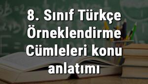 8. Sınıf Türkçe Örneklendirme Cümleleri konu anlatımı