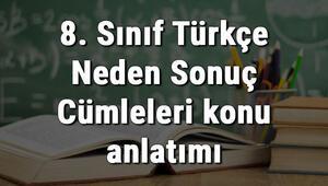 8. Sınıf Türkçe Neden Sonuç Cümleleri konu anlatımı