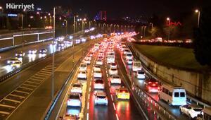 İstanbulda haftanın ilk iş gününde trafik yoğunluğu