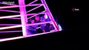 Kumar baskınında çatıdan kaçmaya çalıştılar yakayı ele verdiler