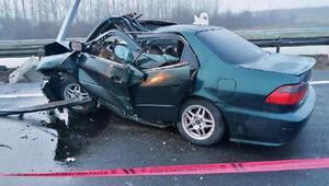 Aydınlatma direğine çarpan otomobilin sürücüsü hayatını kaybetti