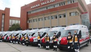Adanada 26 yeni ambulans hizmete alındı