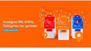 ING'liler Türkiye genelinde 12 bin ATM'yi ücretsiz kullanabilecek