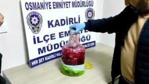 Turşu bidonunda uyuşturucu ele geçirildi