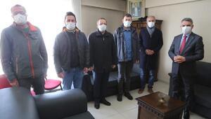 Vali Özkandan gazetecilere ziyaret