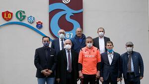 Trabzonspor kurul başkanlarından Abdullah Avcıya ziyaret