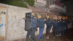 Adanada eş zamanlı operasyon Çok sayıda gözaltı