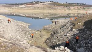 Berdan Barajı'nda temizlik çalışması