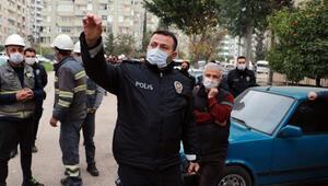 Bina sakinlerinin imdadına Komiser Şener yetişti