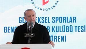 Cumhurbaşkanı Erdoğana anlamlı hediye... Geleneksel Sporlar Tesisi açıldı