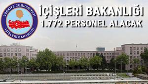İçişleri Bakanlığı 1.772 sözleşmeli personel alacak.. İşte son başvuru tarihi ve detaylar