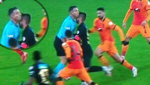 Malatyaspor - Galatasaray maçında talihsiz sakatlık Adem Büyük ve Özgür Yankaya çarpıştı...