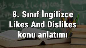 8. Sınıf İngilizce Likes And Dislikes konu anlatımı