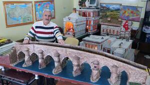 Emekli olduktan sonra yeteneği ortaya çıktı; minyatür eserler yapıyor