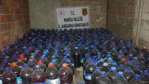 Bağ evinde 3 bin 365 litre sahte içki ele geçirildi
