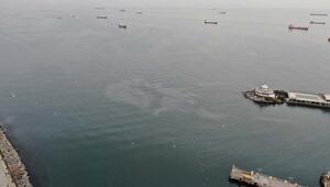 Marmara Denizi'ndeki petrol sızıntısı böyle görüntülendi