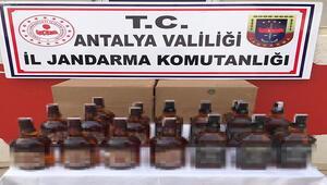 Finike'de 20 litre kaçak alkol ele geçirildi